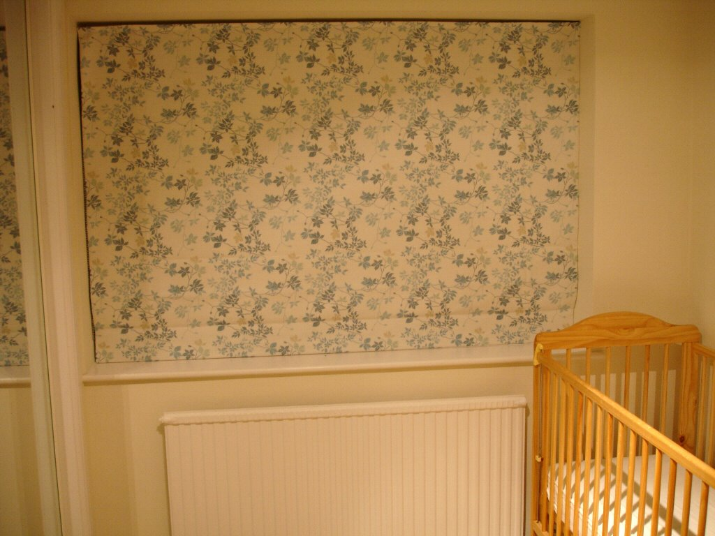 Black out blind for baby's room in John Lewis linen fabric