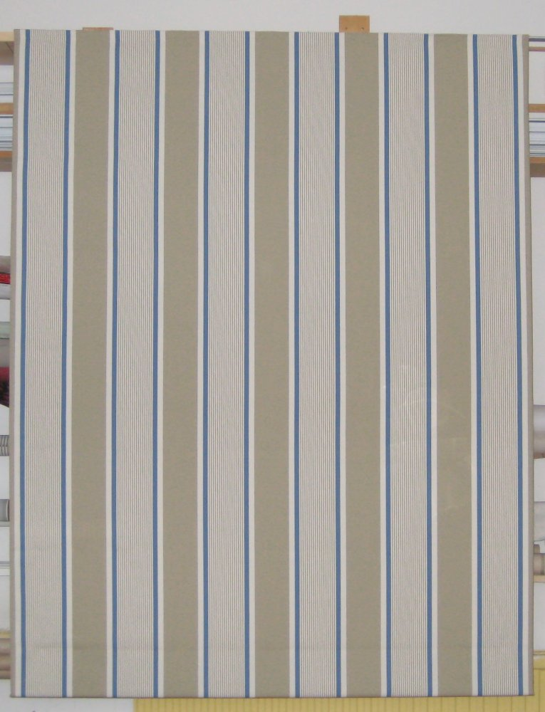 The Linen Works 'Lannoy Stripe - Mastic'