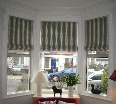 Bespoke Roman blinds made in your fabric
