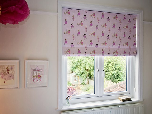 Lovely Belle & Boo fabric in a soft pink for a little girls room.